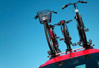 Danger of bicycle racks and roof boxes