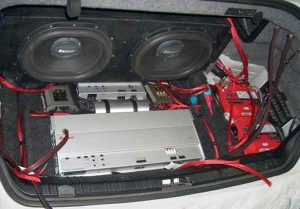 Installing the subwoofer in the car