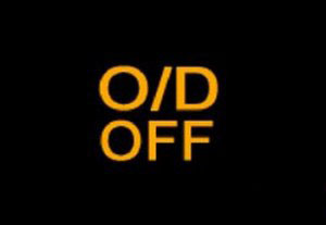 O/D Off Indicator